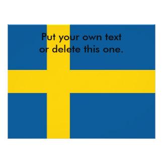 Flyer with Flag of Sweden