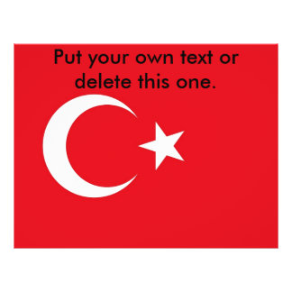 Flyer with Flag of Turkey