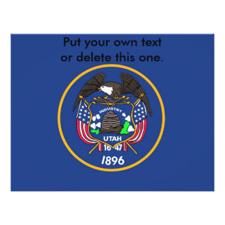 Flyer with Flag of Utah, U.S.A.