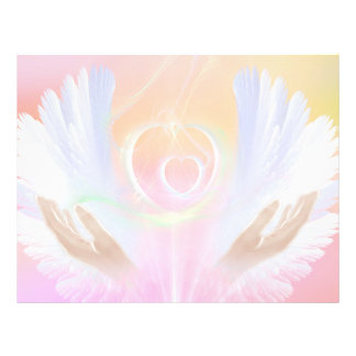 Flyer with healing wings