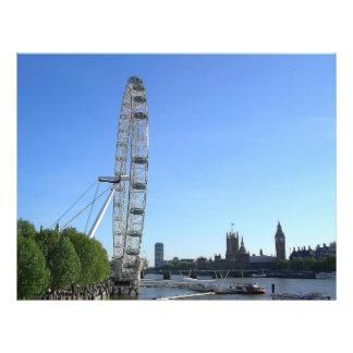 Flyer with London Eye Ferris Wheel