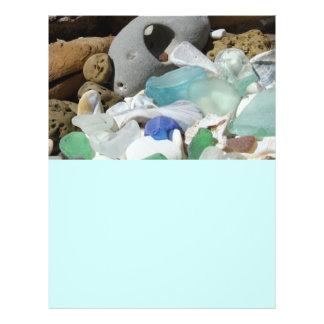 Flyers paper Themed Beach Seaglass Shells Fossils