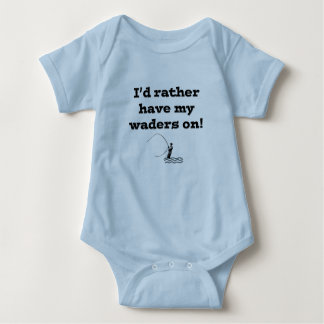 Flyfisherman / I'd rather have my waders on! Baby Bodysuit
