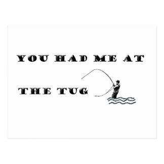 Flyfisherman / You had me at the tug Postcard