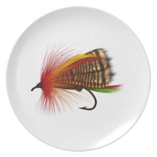 flyfisher's plate,  01 dinner plate