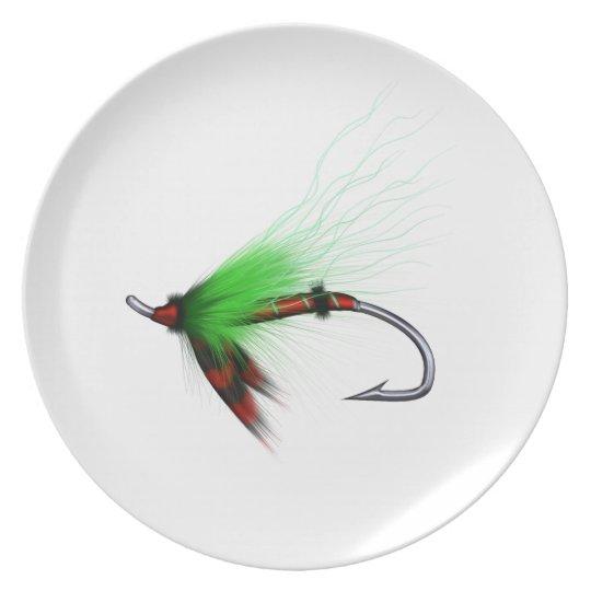 flyfisher's plate, 02 melamine plate