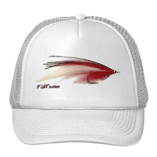 Flyfishing bait, tackle, lure, trucker hat