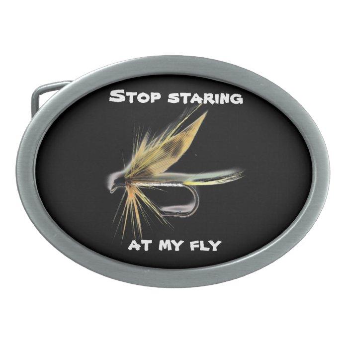 Flyfishing Humor Belt Buckle