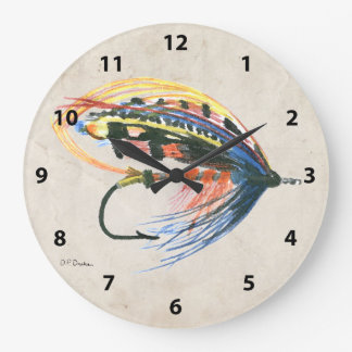 FlyFishing Lure Art Salmon Fly Lure Clock