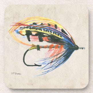 FlyFishing Lure Art Salmon Fly Lure Drink Coaster
