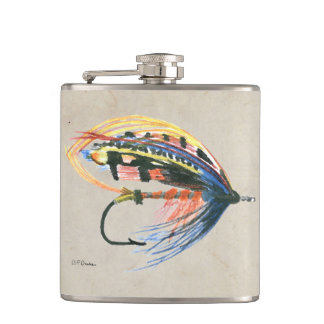 FlyFishing Lure Art Salmon Fly Lure Flask