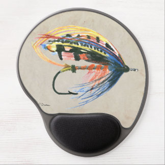 FlyFishing Lure Art Salmon Fly Lure Gel Mouse Pad