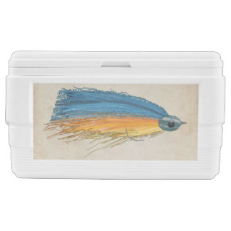 FlyFishing Lure Art Salmon Fly Lure Ice Chest