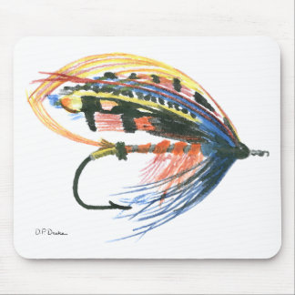 FlyFishing Lure Art Salmon Fly Lure Mouse Pad
