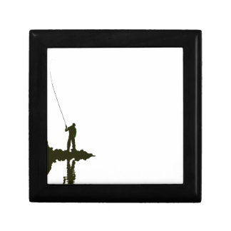 Flyfishing Silhouette Jewelry Box