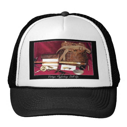 flyfishing still trucker hat zazzle