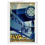 Flyg A-B Aero Transport Vintage Travel Ad Stationery Note Card