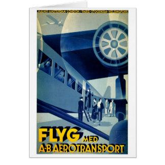 Flyg A-B Aero Transport Vintage Travel Ad Cards
