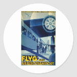 Flyg A-B Aero Transport Vintage Travel Ad Classic Round Sticker