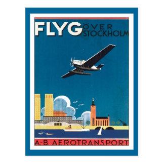 FLYG Estocolmo Suecia Tarjeta Postal