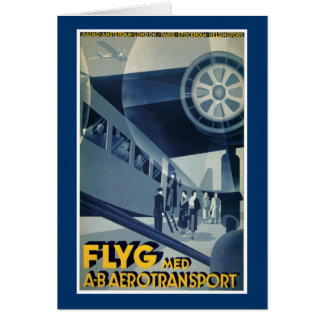 Flyg Med A-B Aerotransport Greeting Cards