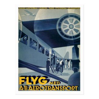 FLYG Med A-B Aerotransport Postcard