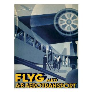 FLYG Med A-B Aerotransport Postcards