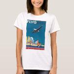 FlyG Over Stockholm Vintage Travel Poster T-Shirt