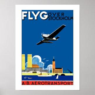Flyg sobre Estocolmo Póster