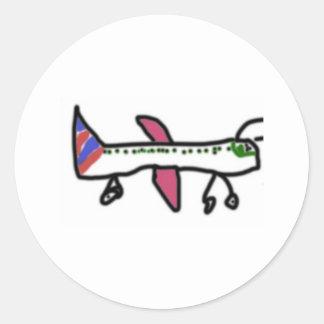 flyin' classic round sticker
