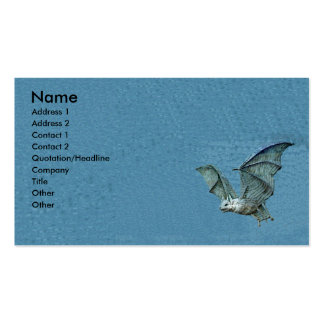 Flying 3d Blue Bat Double-Sided Standard Business Cards (Pack Of 100)