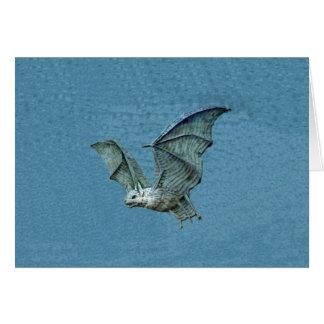 Flying 3D Blue Bat Card