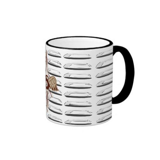 Flying 8 Ball Ringer Coffee Mug