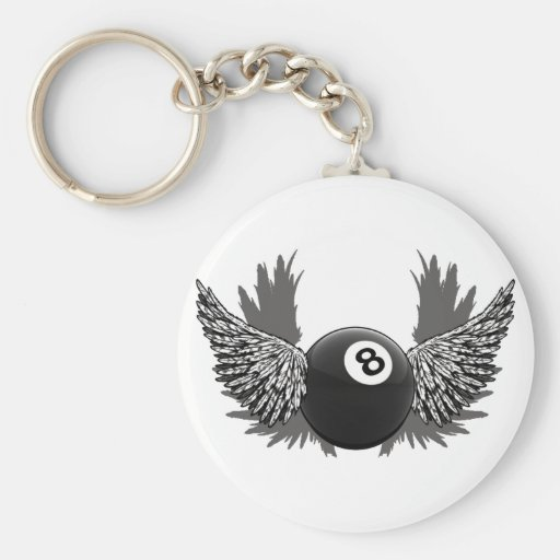 Flying 8Ball Keychain