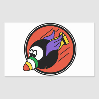 Flying 8ball WWII Rectangular Sticker