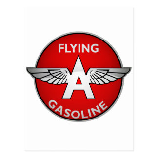 Flying A Gasoline crystal version Postcard