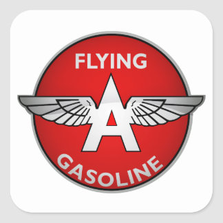 Flying A Gasoline crystal version Square Sticker