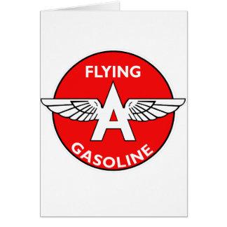 Flying A Gasoline flat version Card