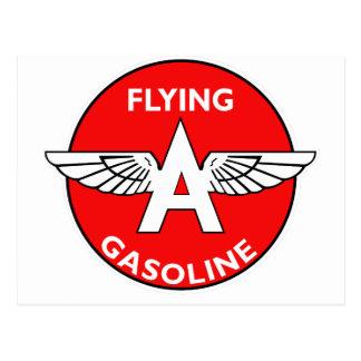 Flying A Gasoline flat version Postcard