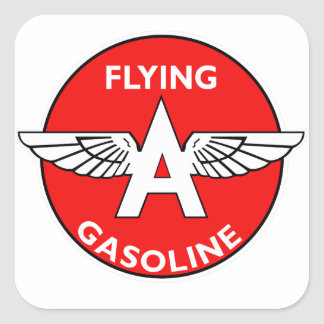Flying A Gasoline flat version Square Sticker