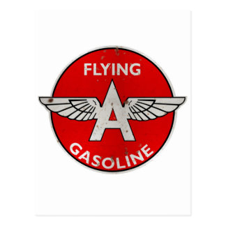 Flying A Gasoline rusted version Postcard