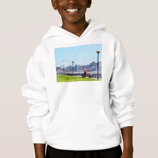 Flying a Kite at Pier A Park Hoboken NJ Hoodie