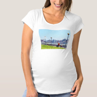 Flying a Kite at Pier A Park Hoboken NJ Maternity T-Shirt