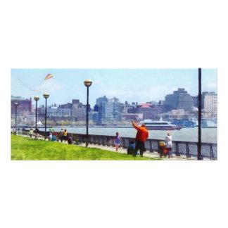 Flying A Kite At Pier A Park Hoboken NJ Rack Card