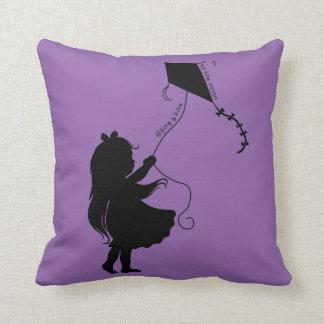 Flying A Kite Throw Pillow