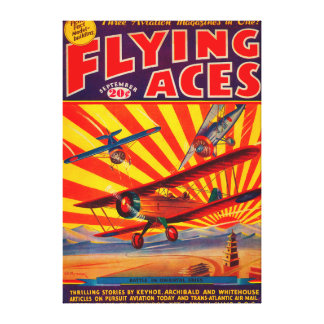 Flying Aces Magazine Cover 2 Canvas Print