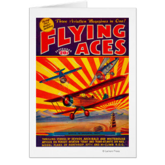 Flying Aces Magazine Cover 2 Greeting Card