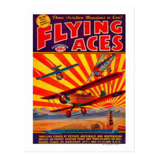 Flying Aces Magazine Cover 2 Postcards