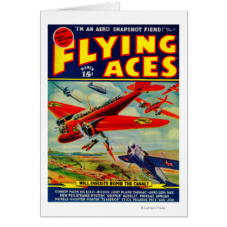 Flying Aces Magazine Cover 3 Card