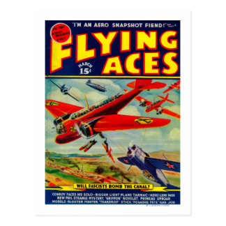 Flying Aces Magazine Cover 3 Post Cards